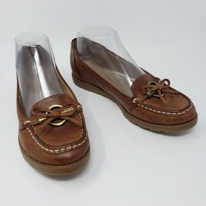 Naturalizer Brown Harness Horsebit Loafers Wide